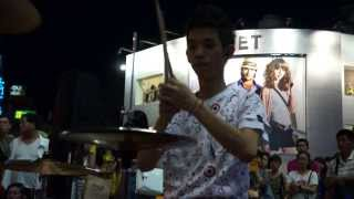 "20130622 李科穎《Maroon5-Moves like jagger》 高畫質 1080p HD Jazz Drummer ""Ke Ying"""