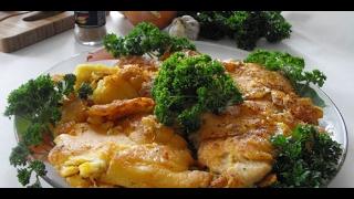 Куриные Отбивные в Картофельном Кляре кулинарный видео рецепт