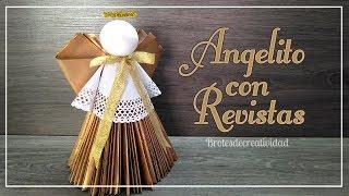 DIY ANGELITO de PAPEL hecho con Revistas *NAVIDAD* - Brotes de Creatividad