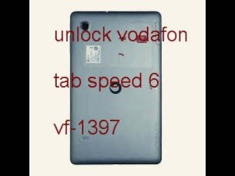 how to unlock Vodafone Tab Speed 6 VF-1397 furious gold