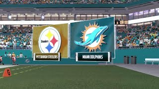 2017 Steelers Draft Class Connected Franchise | Steelers at Dolphins Week 7 Ep.4