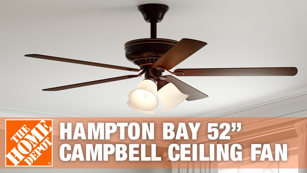 How To Install The Hampton Bay 52 Campbell Ceiling Fan Youtube Wiring Diagram Litex Hunter Fans Premium