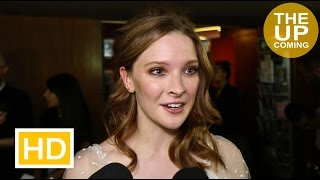 Morfydd Clark interview at Love & Friendship premiere on Kate Beckinsale, Jane Austen, James Fleet