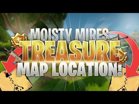 Moisty Mire Treasure Map Loot Location! Fortnite Battle Royale Guide!