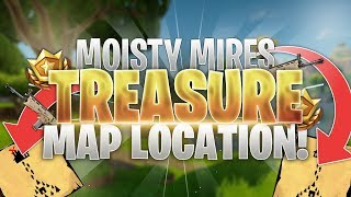 connectYoutube - Moisty Mire Treasure Map Loot Location! Fortnite Battle Royale Guide!