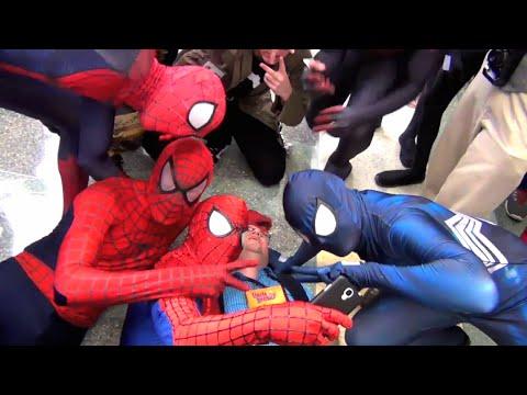 Spider-Man: Spider-Verse Reacts to Uncle Ben's Death (Flashmob)