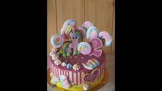 Безмастичное покрытие торта,торт с меренгами.
