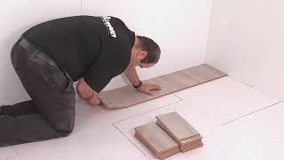 ALSAFLOOR by ALSAPAN flooring range  The ladder pattern installation !