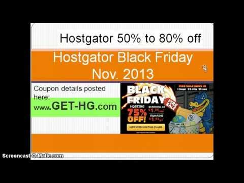 Hostgator Black Friday Discount 2014 -- Coupon Details Here