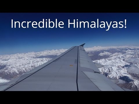 Incredible Views of the Indian Himalayas From a Plane