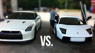 Lamborghini Murcielago vs. Nissan GT-R Street Race