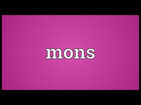 Mons Meaning