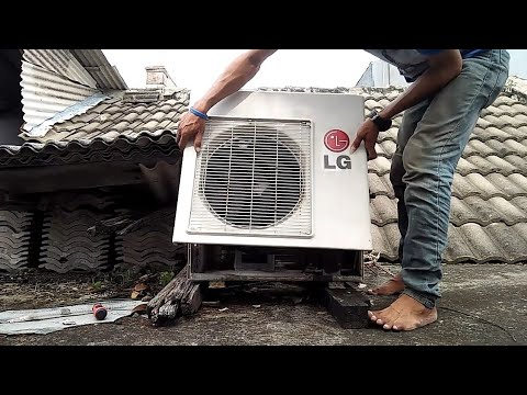 cuci ac lg | LG air conditioner cleaning DIY