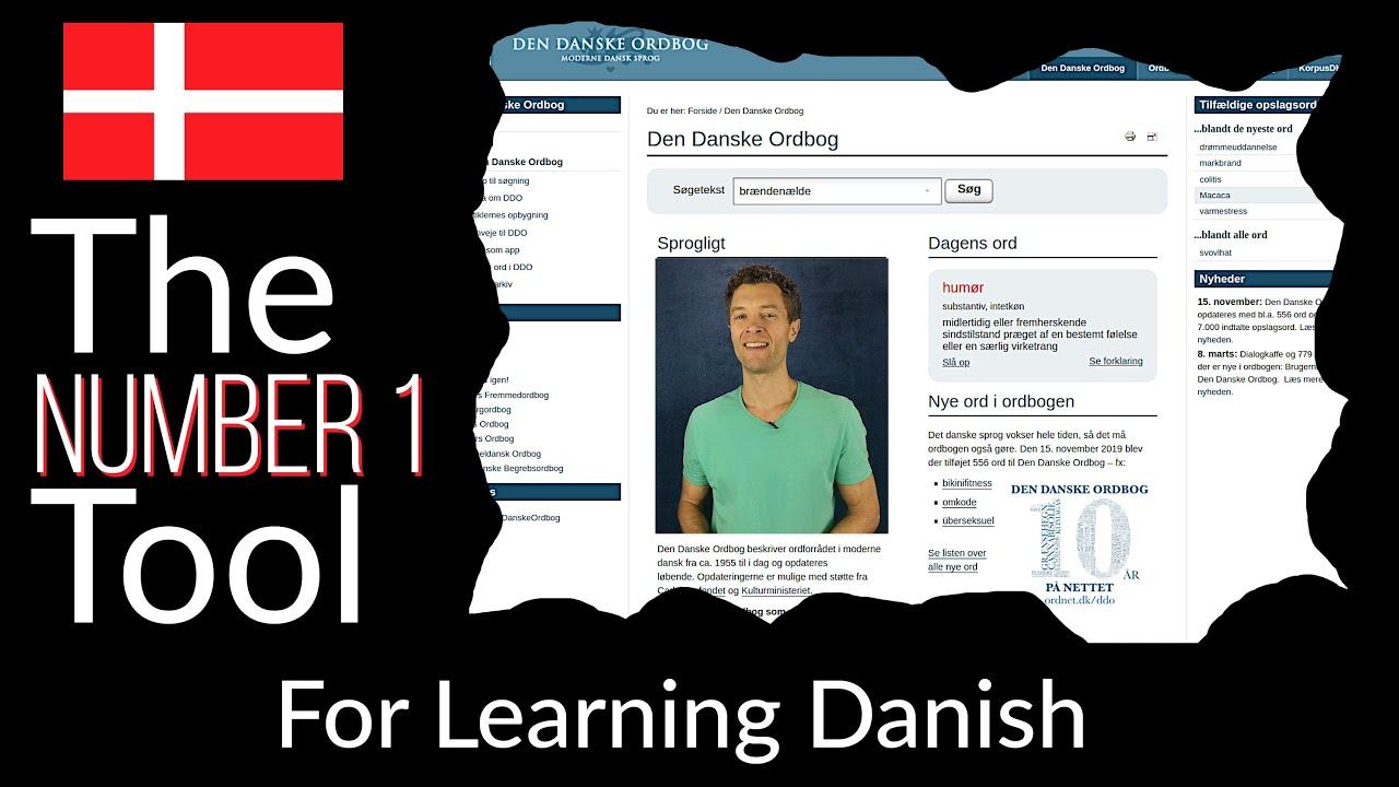 The Most Important Tool for LEARNING DANISH  - Den Danske Ordbog