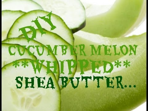 how-to-make-scented-whipped-shea-butter-body-cream-(cucumber-melon)
