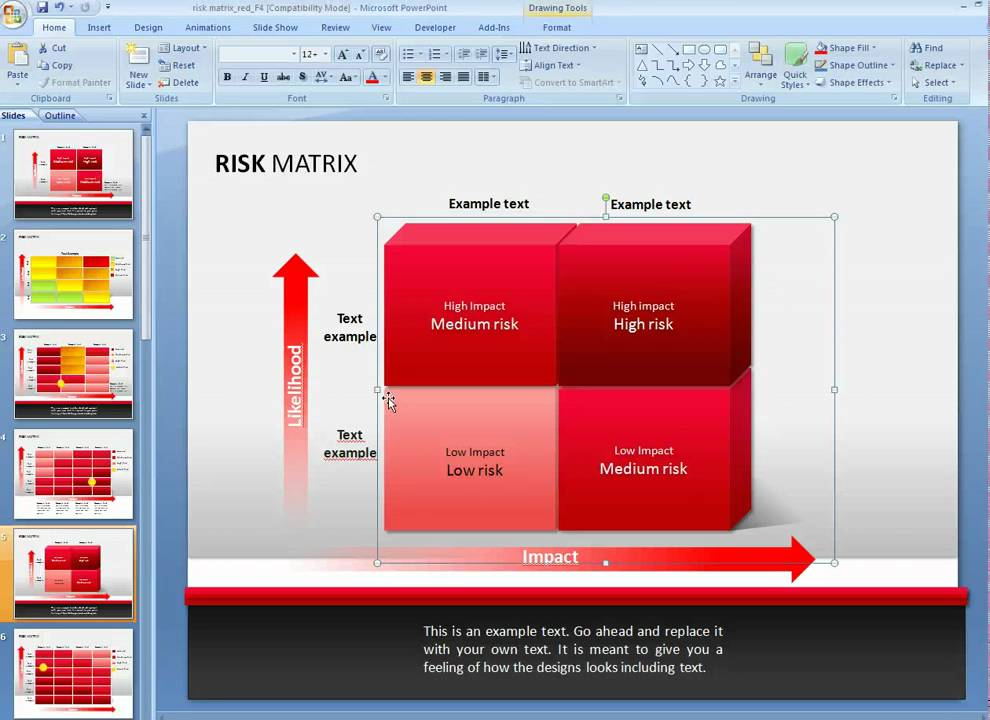 how to customize a risk matrix diagram in powerpoint - youtube, Powerpoint templates