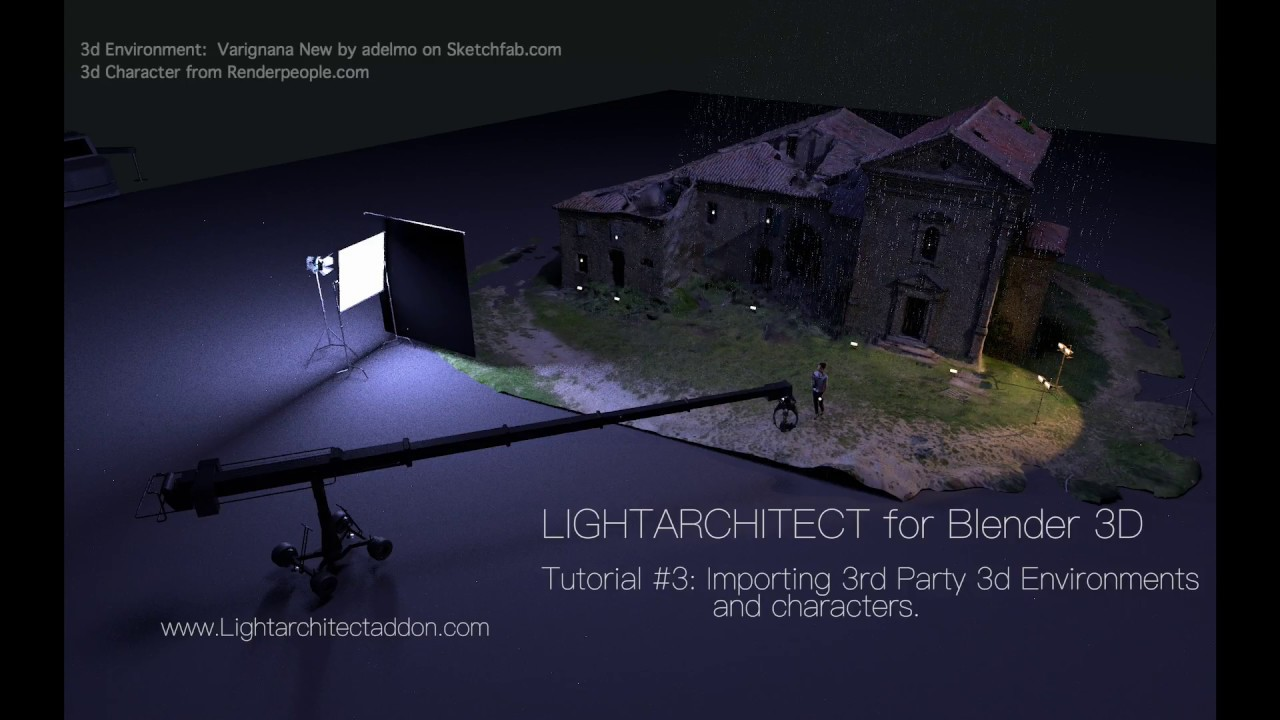 LIGHTARCHITECT: Importing 3rd Party Environments and Characters in Blender  3d