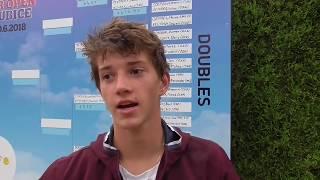 Tadeáš Paroulek po vítězství ve čtvrtfinále Rieter Open Pardubice 2018