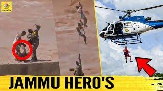 உயிரை பணையம் வைத்த வீரர்கள்! | Indian Air Force's Heroic Rescue Operation | Jammu Flood | Tawi River
