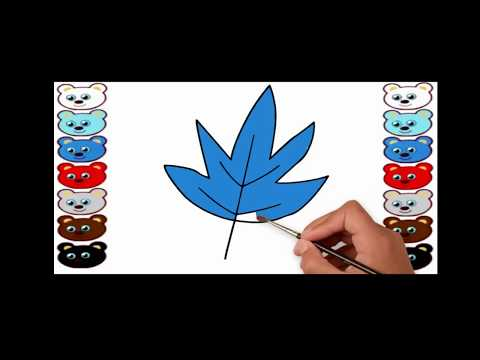 SUPER Coloring Pages for Children | Learn Colors | How to Draw and Color a leaf | Drawing for Kids