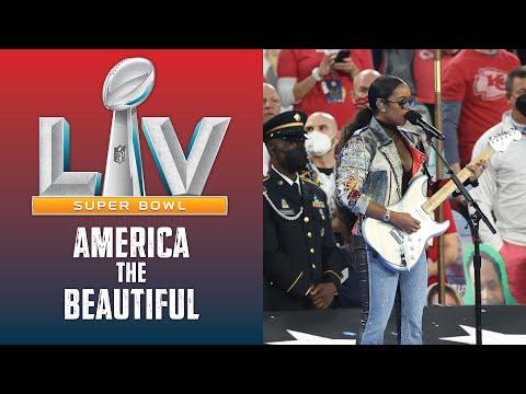 H.E.R. Sings America the Beautiful at Super Bowl LV