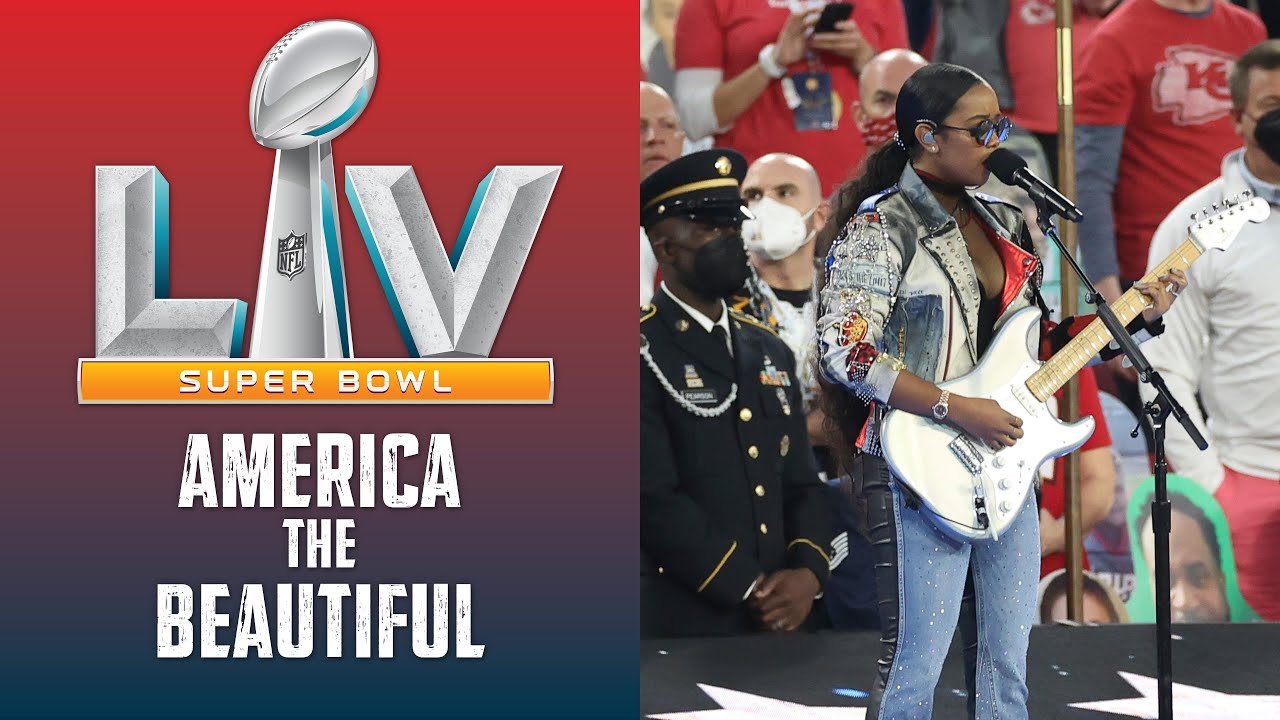 H.E.R. Sings America the Beautiful at Super Bowl LV