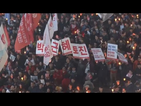 [경향신문] 분노의 10만 촛불, 종로 1가 방향으로 행진 시작