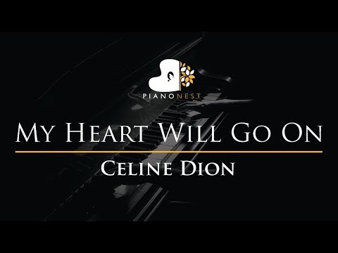 Celine Dion - My Heart Will Go On - Piano Karaoke Cover With Lyrics