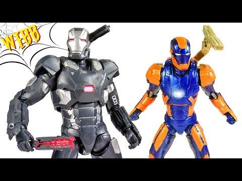 MARVEL LEGENDS Captain America Civil War WAR MACHINE & IRON MAN MARK 27 Action Figure Review