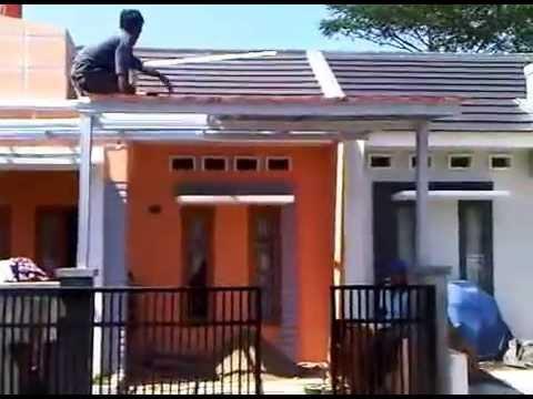 kanopi baja ringan genteng pasir metal suryajayatruss 3gp youtube