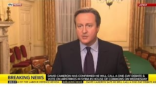"PM: Syria Airstrikes Are ""The Right Thing To Do"""