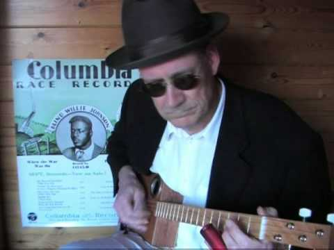 Cigar Box Slide Guitar - Gospel Blues - Lord, I Just Can't Keep From Crying - Blind Willie Johnson