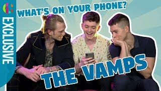 Ever wondered The Vamps members have on their phones? We play First...
