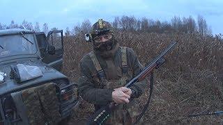 ОХОТА на БОБРА с ружьем МЦ 21-12. Подствольный фонарь и крепление на оружие.