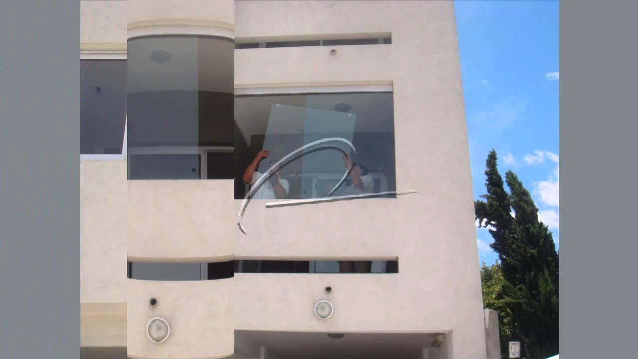Cerramientos de balcones en cristal templado con - Cerramientos de aluminio para balcones ...
