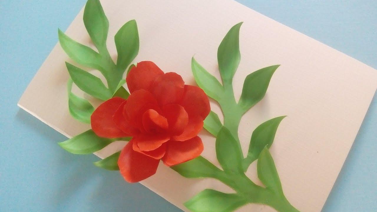 Blumenkarte. Bastelidee Zum Muttertag, Vatertag Oder Geburtstag
