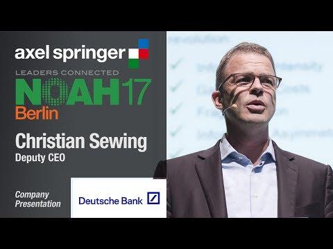 Christian Sewing, Deutsche Bank - NOAH17 Berlin