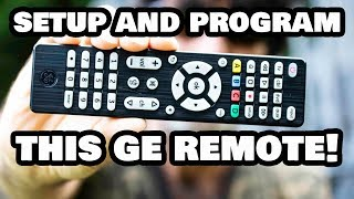 Programming Your GE Universal Remote Control to ANY Device!