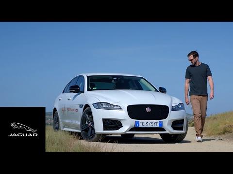 Jaguar XF | Nicholas Hoult AWD Smart Cone Challenge