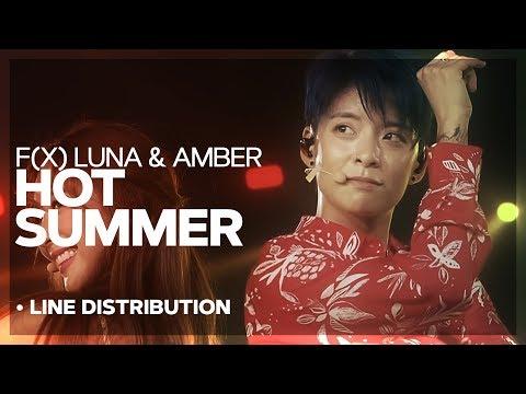 f(x) Luna & Amber - Hot Summer • Line Distribution