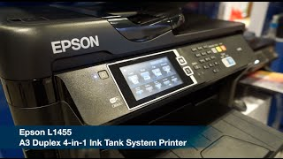 Epson L1455 A3 Duplex 4 in 1 Ink Tank System Printer Launch @ Comex 2016