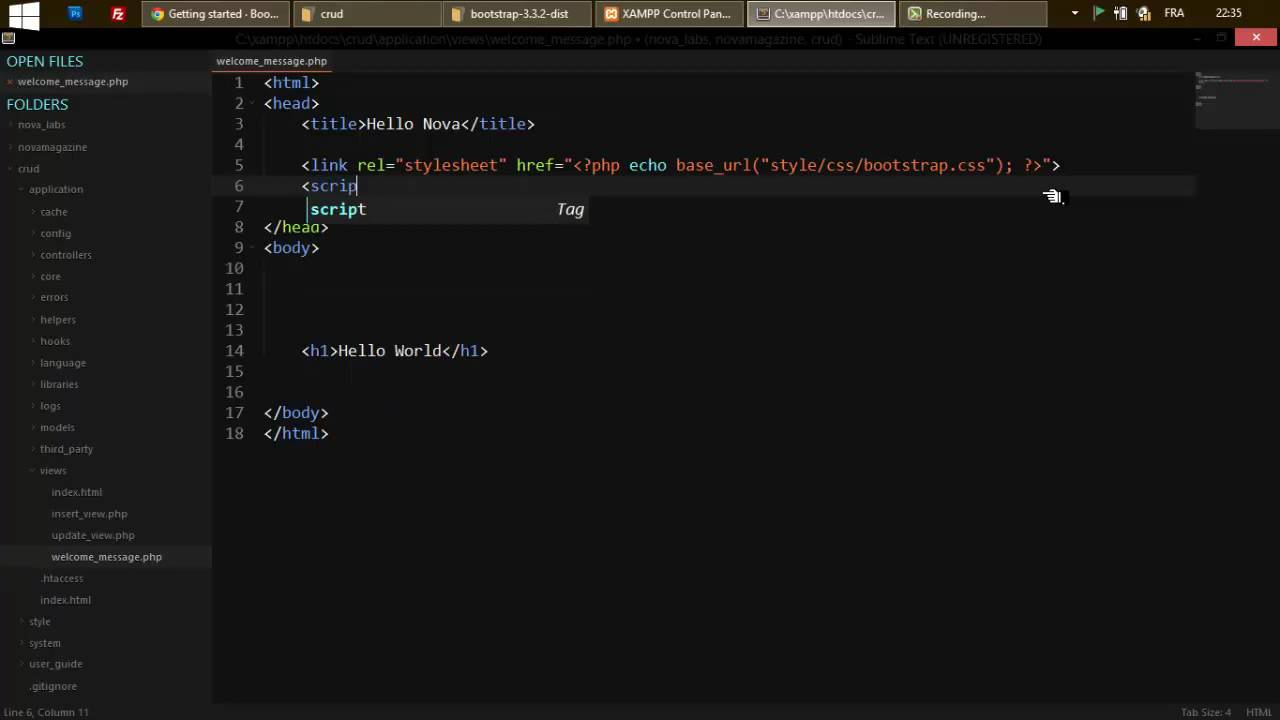 Integrate a Bootstrap Template into CodeIgniter