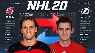 Nhl 20 - Blake Coleman To Tampa Bay Trade Simulation