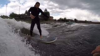 OCINSTANEWS River Surfing with a Friend