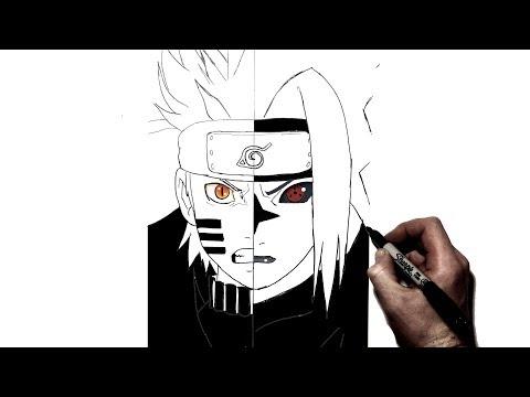 How To Draw Naruto{Bijuu}/Sasuke{Curse} | Step By Step | Naruto