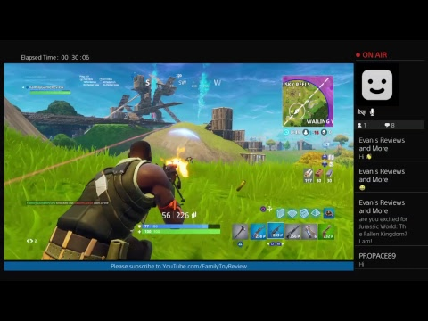 Fortnite Update 50 vs 50 Gameplay Live Broadcast Family Game Review