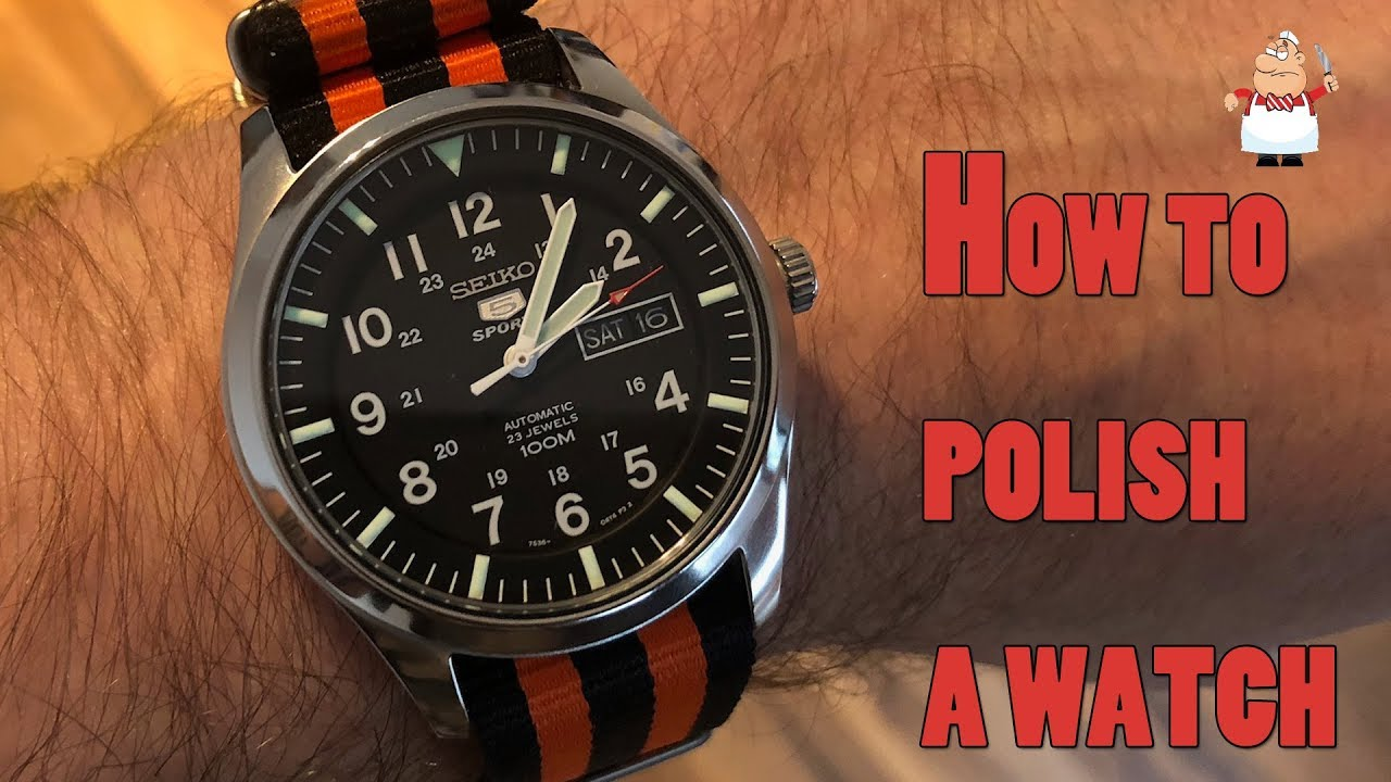 Watch polishing - by hand - how to and what to use - Seiko SNZG
