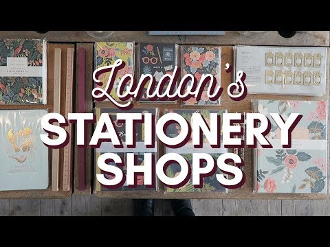 London's best STATIONERY SHOPS!