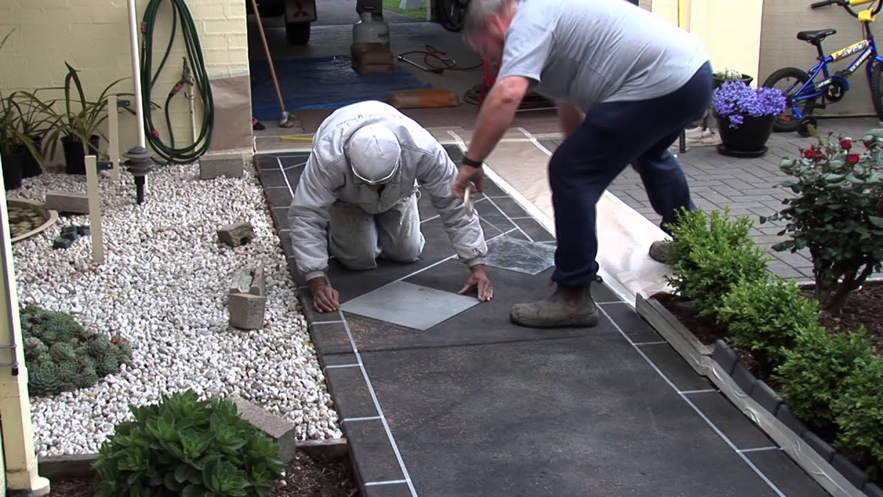 Nupave Spray On Decorative Paving Instructional Youtube