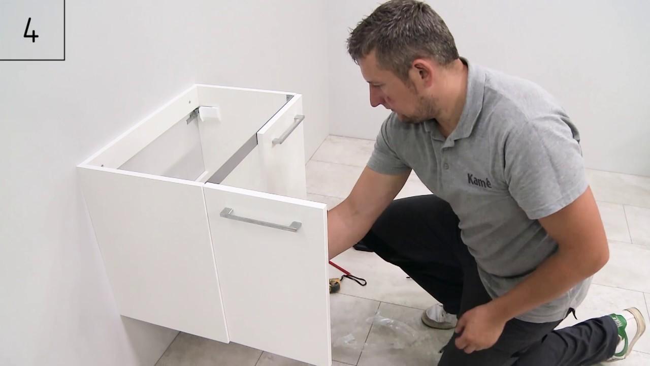 How to install KAME bathroom furniture
